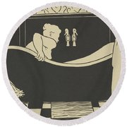 The Bath Round Beach Towel