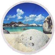 The Baths - Virgin Gorda Round Beach Towel