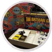 The Batman Game Round Beach Towel