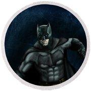 The Batman Round Beach Towel by Vinny John Usuriello