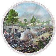 The Battle Of Antietam Round Beach Towel
