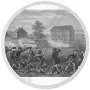 The Battle Of Lexington Round Beach Towel