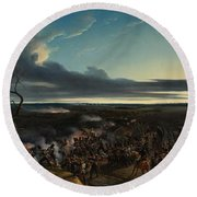 The Battle Of Montmirail Round Beach Towel