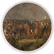 The Battle Of Waterloo,1824 Round Beach Towel