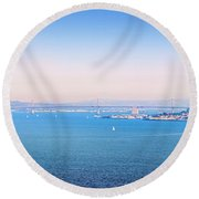 The Bay Round Beach Towel
