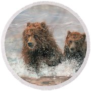 The Bears Are Coming Round Beach Towel