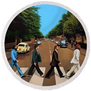 The Beatles Abbey Road Round Beach Towel