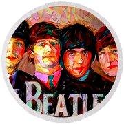 The Beatles Round Beach Towel