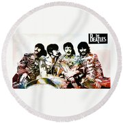 The Beatles--sargent Peppers Lonely Hearts Club Band Round Beach Towel