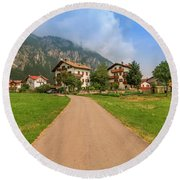 Round Beach Towel featuring the photograph The Beautiful Dolomites by Roy McPeak