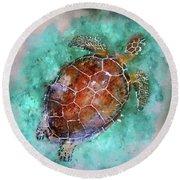 The Beautiful Sea Turtle Round Beach Towel