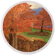 The Beauty Of Autumn  Round Beach Towel