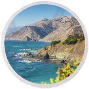 The Beauty Of Big Sur Round Beach Towel by JR Photography