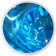 The Beauty Of Blue Glass Round Beach Towel
