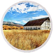 The Beauty Of Fall In Colorado Round Beach Towel