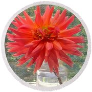 The Beauty Of Flowers Round Beach Towel