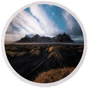 the Beauty of Iceland Round Beach Towel