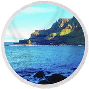 Round Beach Towel featuring the photograph The Beauty Of Northern Irelandd by Alan Lakin