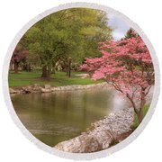 Round Beach Towel featuring the photograph The Beauty Of Spring by Angie Tirado