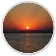 The Beauty Of Sunset Round Beach Towel