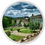 The Beauty Of The Boboli Gardens Round Beach Towel