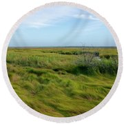 The Beauty Of The Marsh Round Beach Towel