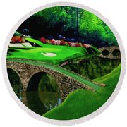 The Beauty Of The Masters Cropped Version Round Beach Towel