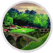 The Beauty Of The Masters Round Beach Towel