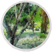 The Beauty Of Trees Round Beach Towel