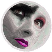 The Beauty Regime Pink Round Beach Towel by ISAW Gallery