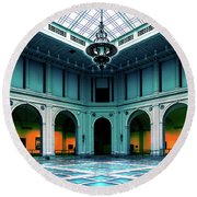 Round Beach Towel featuring the photograph The Beaux-arts Court by Chris Lord