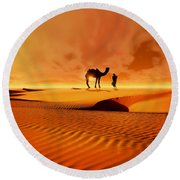 Round Beach Towel featuring the photograph The Bedouin by Valerie Anne Kelly