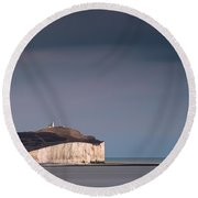 The Belle Tout Lighthouse Round Beach Towel