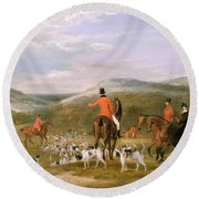 The Berkeley Hunt Round Beach Towel by Francis Calcraft Turner