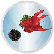 Round Beach Towel featuring the photograph The Berries by Juli Scalzi