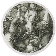 The Betrayal Of Christ Round Beach Towel