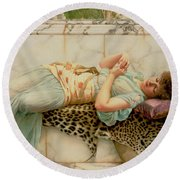 The Betrothed Round Beach Towel