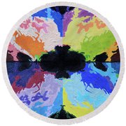 The Big Bang Round Beach Towel by John Lautermilch