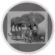 The Big Five Round Beach Towel
