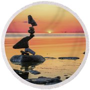 The Bird Round Beach Towel