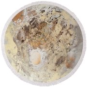 The Birth Of Universe Abstract Round Beach Towel