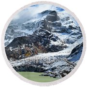 The Black Snowdrift Glacier Round Beach Towel