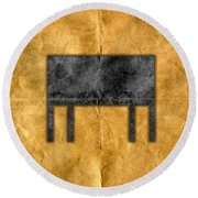 The Black Table Round Beach Towel