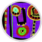 The Blessed Man Round Beach Towel