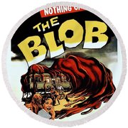 The Blob  Round Beach Towel