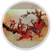 The Bloom Of Cherry Blossom Round Beach Towel