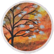 The Blossom Round Beach Towel