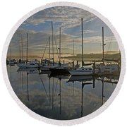 The Blue And Beyond Round Beach Towel by Suzy Piatt