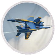 The Blue Angels Close Pass Round Beach Towel