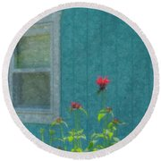 The Blue Beach Shack Round Beach Towel